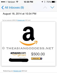 db's first amazon gc
